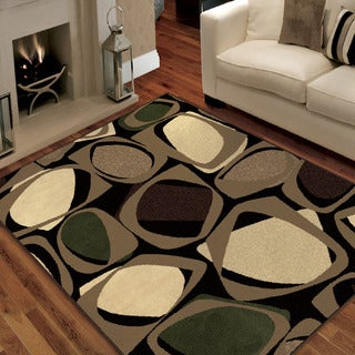 "Da Vinci Collection Larrson Mink Olefin Area Rug (6'7"" x 9'8"")"