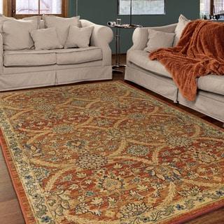 """Berkley Collection Elegante Brick Olefin Area Rug (7'10"""" x 10'10"""")"""