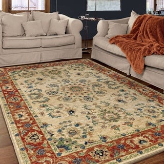 "Berkley Collection Twisted Tradition Bone Olefin Area Rug (5'3"" x 7'6"")"