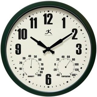 Infinity Instruments Munich Green 14-inch Round Clock