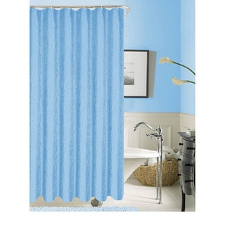 Silvia Solid Pattern Polyester Shower Curtain