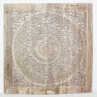 Haussmann Sand Washed Natural Wax Lotus Panel Inlay (Thailand)