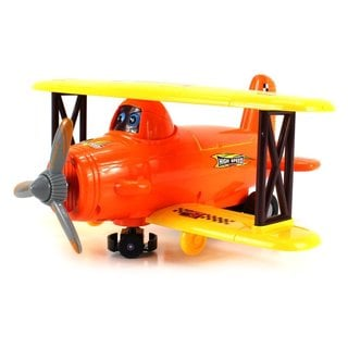 3d Speed Biplane Battery Operated Bump and Go Toy Airplane