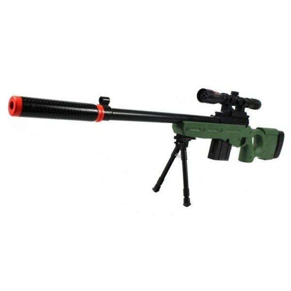 Velocity Airsoft L96-gs Spring Airsoft Gun Fps-250 with Silencer (green)