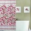 Geo Pattern Plastic 13-piece  Shower Curtain Set