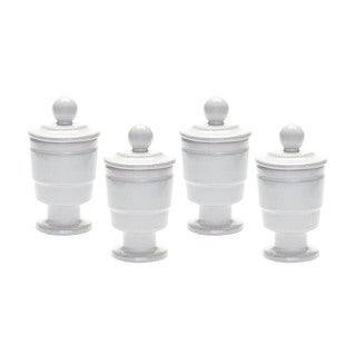 Dimond Home White Polar Filled Votive (Set of 4)