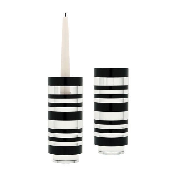 Dimond Home Small Sliced Tuxedo Crystal Candleholder (Set of 2)