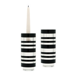 Dimond Home Small Sliced Tuxedo Crystal Candleholder (Set of 2)