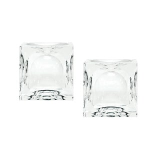 Dimond Home Small Dimpled Crystal Cubes (Set of 2)