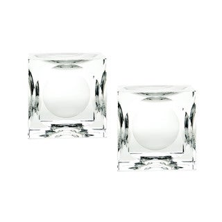 Dimond Home Large Dimpled Crystal Cubes (Set of 2)
