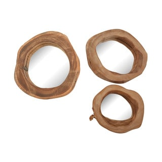 Dimond Home Teak Wood Mirrors (Set of 3)