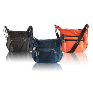 Suvelle Hobo Multi Pocket OrganizerCrossbody Bag Water-Resistant Nylon Shoulder Bag