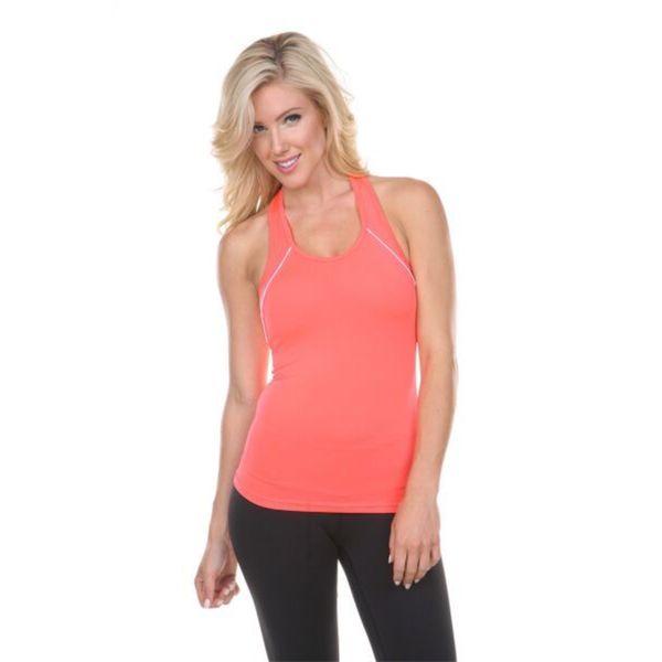 Women's Orange Active Wear Top