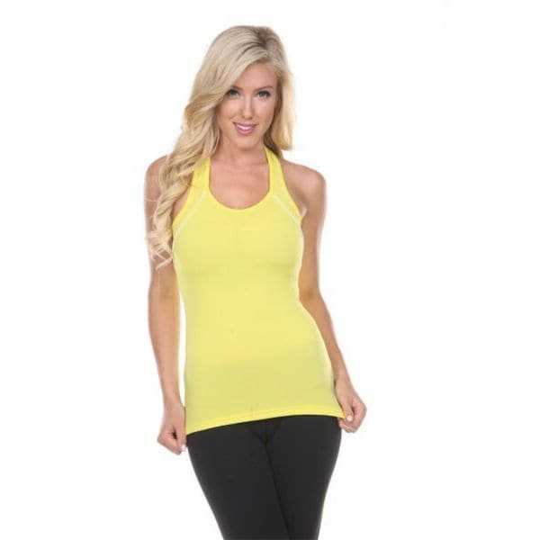 Women's Yellow Active Wear Top