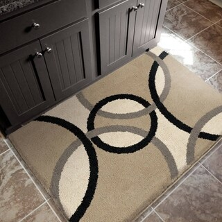 """Sherwood Collection Oris Flax Olefin Accent Rug (2'7"""" x 3'9"""")"""