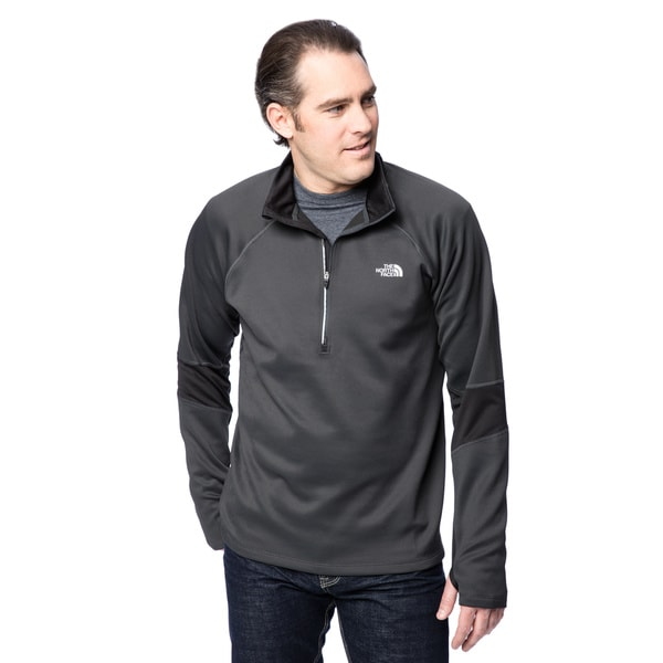 The North Face Asphalt Grey with TNF Black Men's Momentum Thermal 1/2 Zip