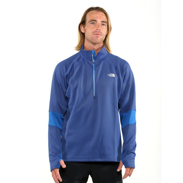 The North Face Mandolin Blue with Snorkel Blue Men's Momentum Thermal 1/2 Zip