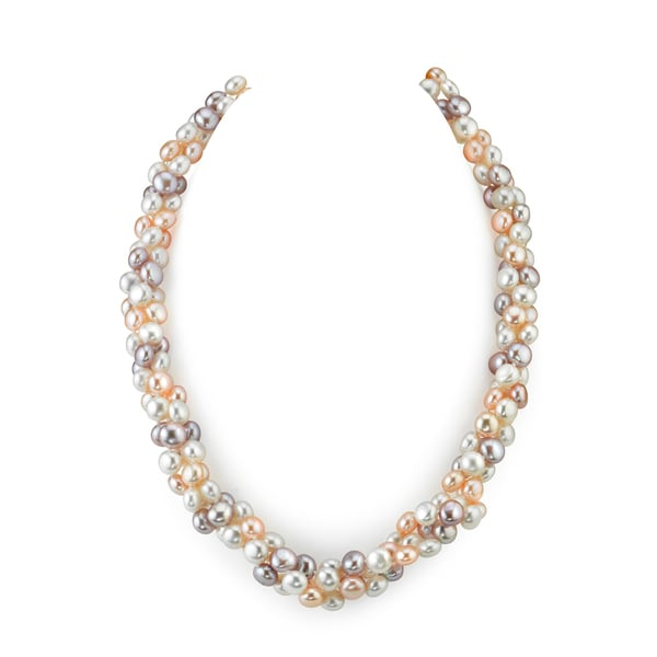 Radiant Multi-colored Freshwater Pearl Necklace (5mm)