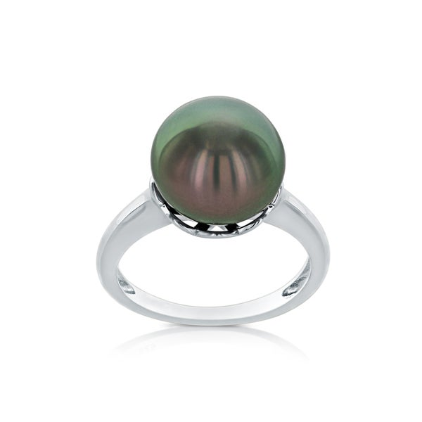 Radiant Tahitian South Sea Pearl Ring (10mm)