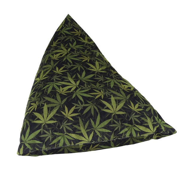 Mary Jane Big Fatty Black/ Green Bean Bag