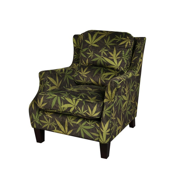 Mary Jane Smoking Black/ Green Accent Chair