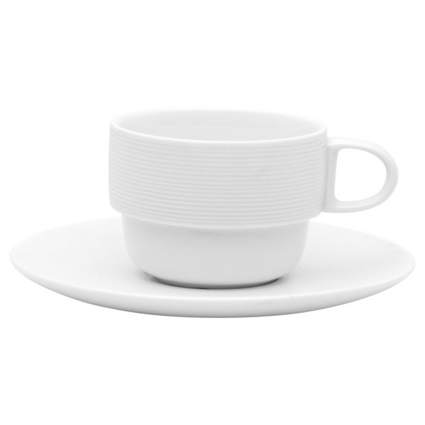 Naturally Vanilla Stacking Cup/Saucer (Set of 6)