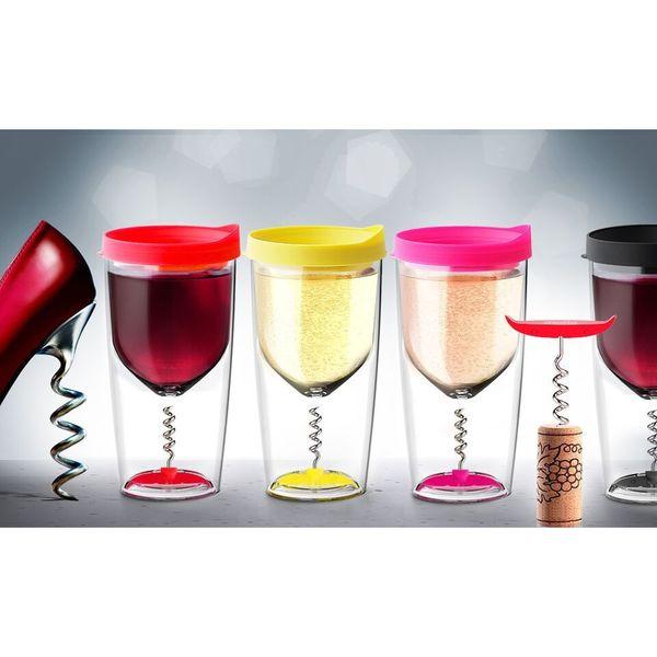 Asobu's Versatile On-the-Go Corkscrew Wine Cup 16043318