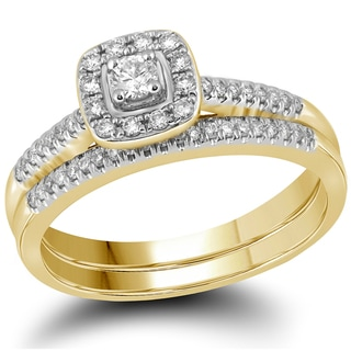 10k Yellow Gold 1/3ct TDW Diamond Bridal Ring Set (G-H, I1-I2)