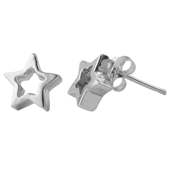 Sterling Silver Star Post Earrings