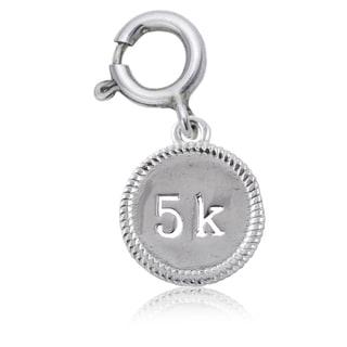 5K Sterling Silver Running Charm