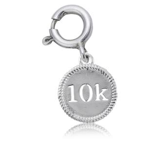 10K Sterling Silver Running Charm