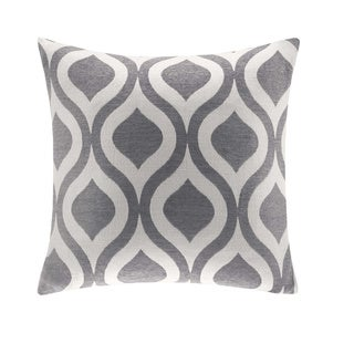 Madison Park Bergamo Chenille 20x20 Feather Down Square Pillow--3 Color Options