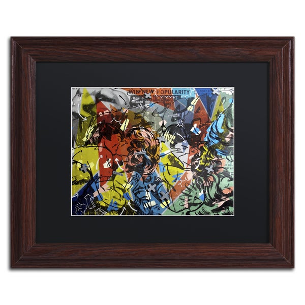 Dan Monteavaro 'Popularity Everyone is Doing It' Black Matte, Wood Framed Wall Art