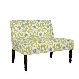 angelo:HOME Bradstreet Peapod Green Modern Flower Armless Settee