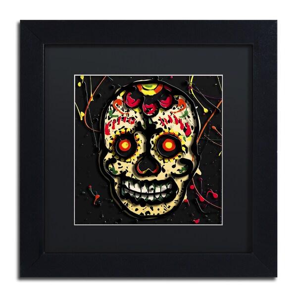 Roderick Stevens 'Muertos 2' Black Matte, Black Framed Wall Art