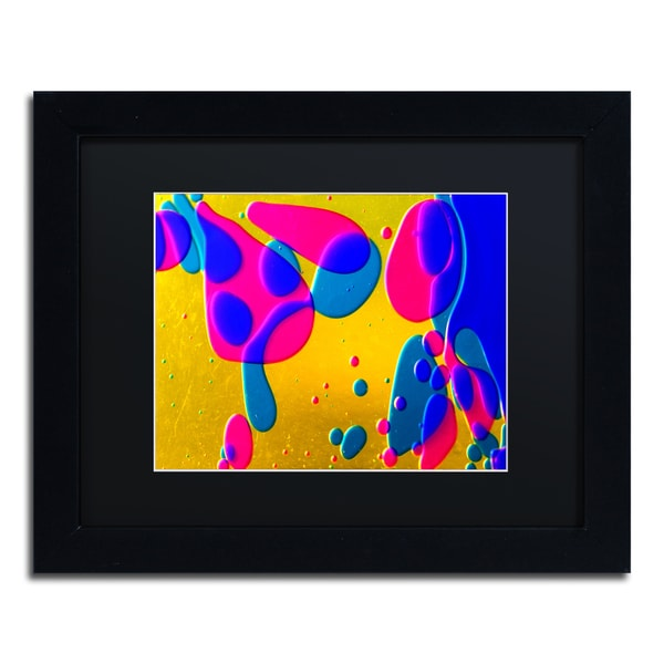 Beata Czyzowska Young 'Colour Fun I' Black Matte, Black Framed Wall Art