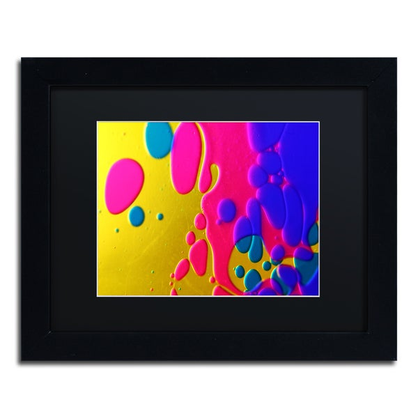 Beata Czyzowska Young 'Colour Fun II' Black Matte, Black Framed Wall Art