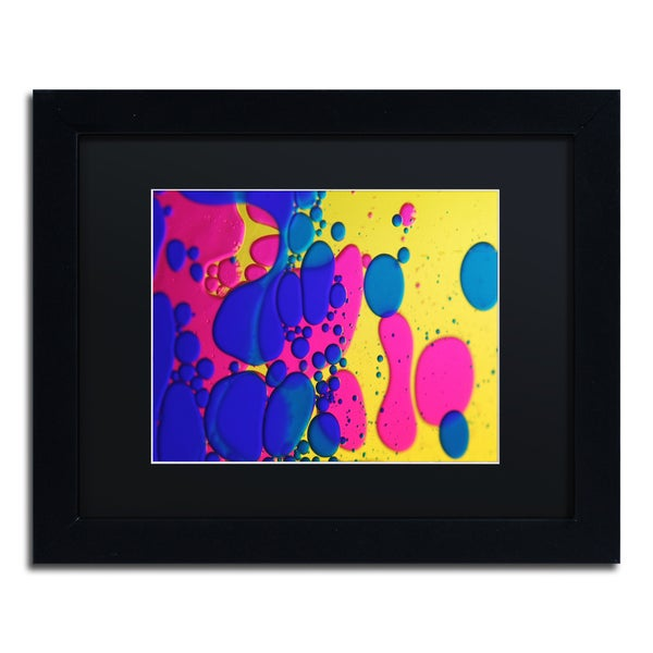 Beata Czyzowska Young 'Colour Fun III' Black Matte, Black Framed Wall Art