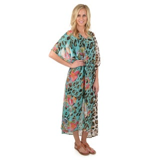 Journee Collection Women's Chiffon Swimsuit Cover-up Dress