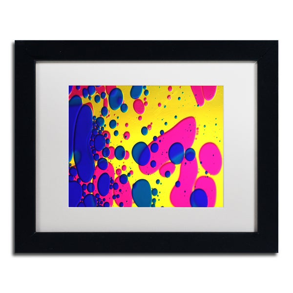 Beata Czyzowska Young 'Colour Fun V' White Matte, Black Framed Wall Art