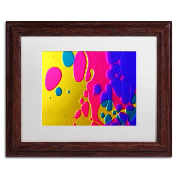 Beata Czyzowska Young 'Colour Fun II' White Matte, Wood Framed Wall Art