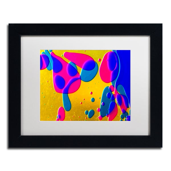 Beata Czyzowska Young 'Colour Fun I' White Matte, Black Framed Wall Art