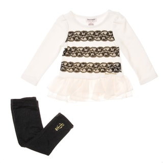 Juicy Toddler Girls' 2-piece Lace Accent Tunic and Legging Set