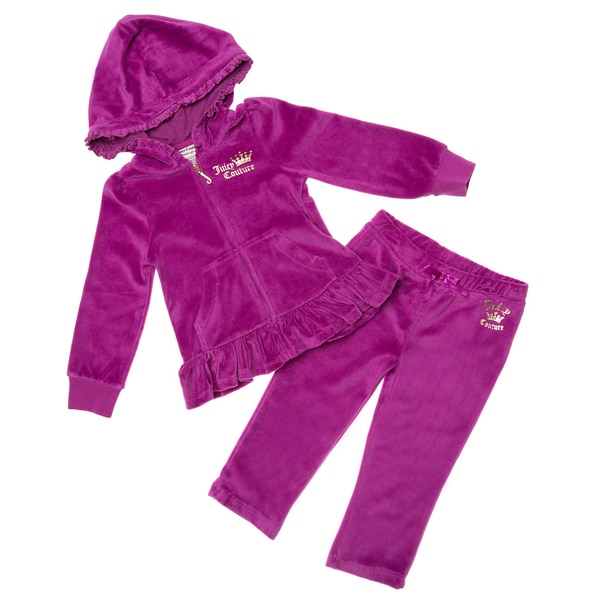 Juicy Infant Girl's 2-piece Purple Velour Set