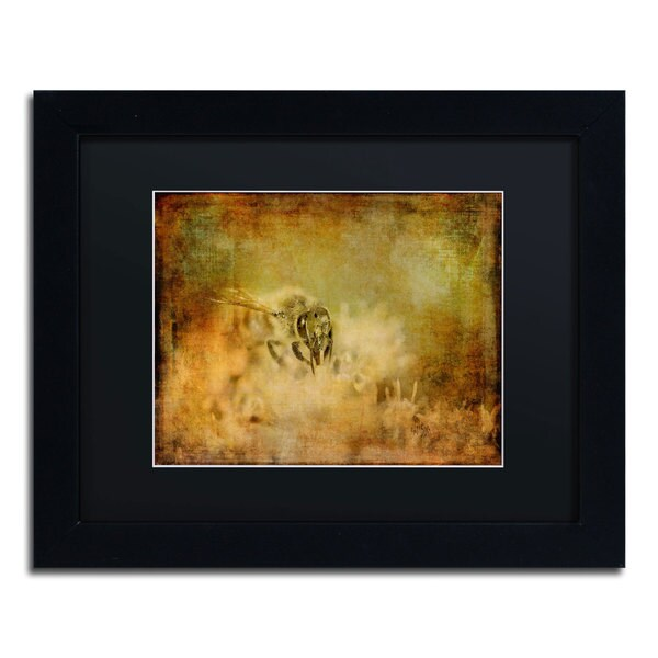 Lois Bryan 'Send the Bees Love' Black Matte, Black Framed Wall Art