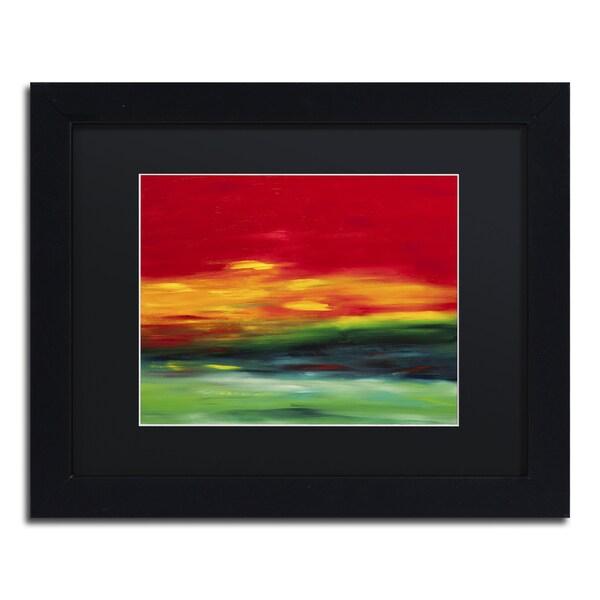 Hilary Winfield 'Island Sky 2' Black Matte, Black Framed Wall Art 16044458