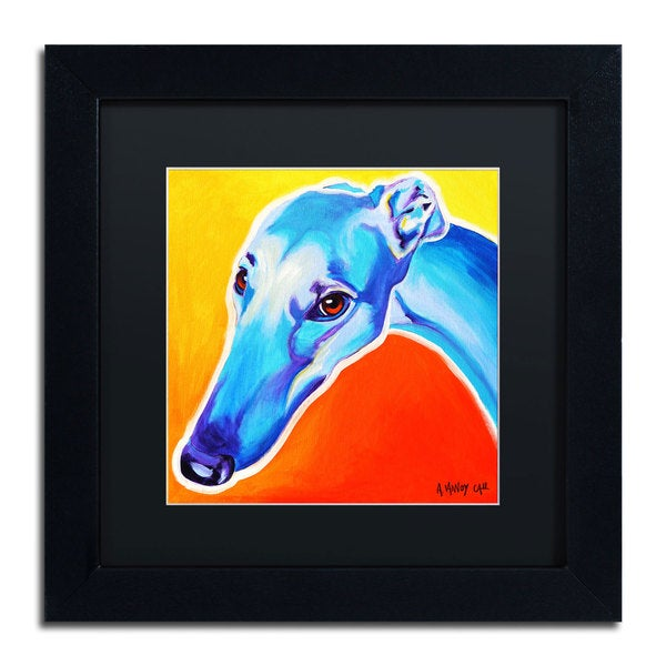 DawgArt 'Lizzie' Black Matte, Black Framed Wall Art