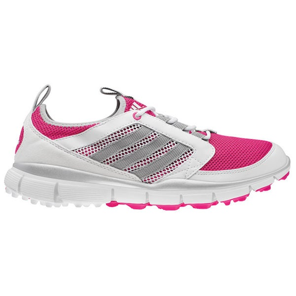 adidas adi Star Climacool Golf Shoes - Womens - Bahia Magenta/Metallic Silver/White