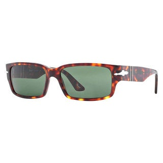 Persol Men's PO3087S Plastic Rectangle Sunglasses