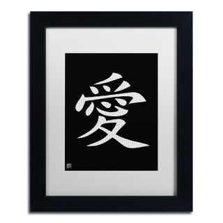 'Love - Vertical Black' White Matte, Black Framed Wall Art